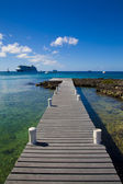 Ocean Dock in Grand Cayman, Cayman Islands — Stock Photo