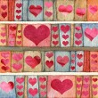 Stock Photo: Background with hearts