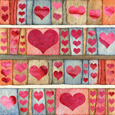 Background with hearts — Stock Photo