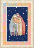 Christmas, Jesus Christ , Joseph, Mary — Stock Photo