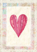Heart, greeting card for Valentine's Day — Stock Photo