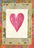 Heart,watercolor — Stock Photo