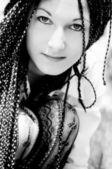 Retrato de la hermosa morena — Foto de Stock