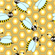 Bee repetition — Vector de stock #4029684