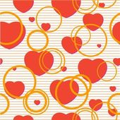 Seamless valentine pattern — Stock Vector