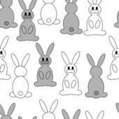 Cartoon rabbit repetitions — Stock Vector