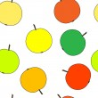 Apples repetition — Vector de stock #4054740