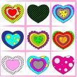 Heart set — Stock Vector #4056045