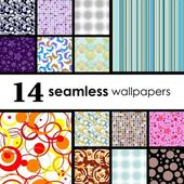 Seamless tile patterns — Stock Vector