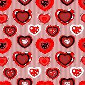 Patrón san valentín inconsútil — Vector de stock