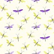 Seamless butterfly pattern — ストックベクタ