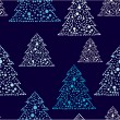 New years tree repetition — Vector de stock #4307010