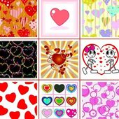 Valentine collection — Stock vektor