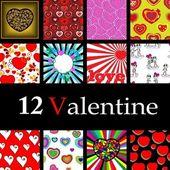 Valentýnská kolekce — Stock vektor
