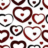 Seamless valentine pattern — Stockvektor