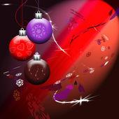 Vánoční koule v záři reflektorů — Stock vektor