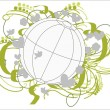 Stock Vector: Fertile Environment Globe.