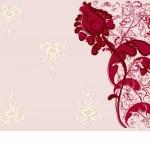 花柄のデザインの背景 — ストックベクタ