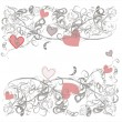 Romantic background delicate gray floral pattern — Vector de stock