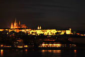 Hrad by night — Stock Photo