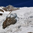 Lys glacier — Stock Photo