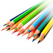 Brightly colored pencils. — Stock Photo