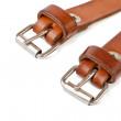 Stock Photo: Two вrown leather belt.