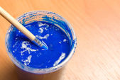 Blue paint — Foto de Stock