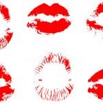 Scarlet lips — Stock Vector