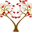 Two hearts trees — Stock Vector