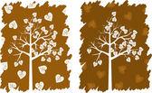 Hearts tree — Stock Vector