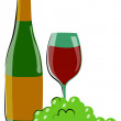 Royalty-Free Stock Vector Image: Wine and grape