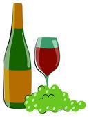 Wina i moszczu winogronowego — Wektor stockowy