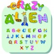 Alien alphabet — Stock Vector