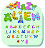 Alien alphabet — Stock Vector