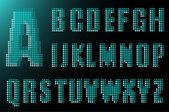 Electronic alphabet — Stock Vector