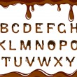 Stock Vector: Chocolate alphabet