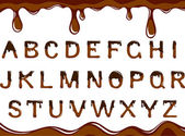 Chocolate alphabet — Stock Vector