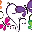 Colorful Butterflies — Stock Vector #4121326