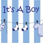 It's A Boy — Stockvector