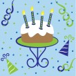 Stock Vector: Happy Birthday Cake