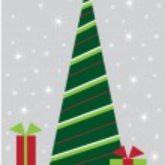 Merry Christmas Tree — Stock Vector #4411172