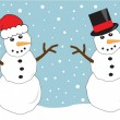 Snowmen — Stock Vector