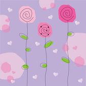 Flores de san valentín — Vector de stock