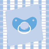 Blue Pacifier — Stock Vector