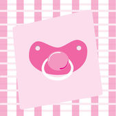 Pink Pacifier — Stock Vector
