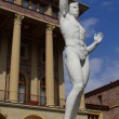 White sculpture of man — Stock Photo