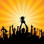 Cheering Crowd — Stock Vector