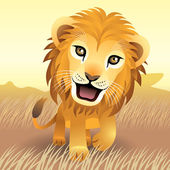 Baby Animals: Lion — Stock Vector