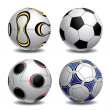 Football balls — Vettoriali Stock